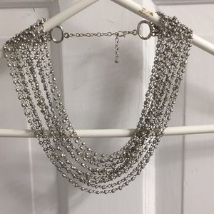 Necklace gray and silver